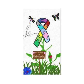 Autismmedvetenheten undertecknar på Foto-på-Kanfas Canvastryck