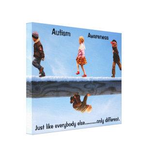 Autismmedvetenhetkanfas Canvastryck