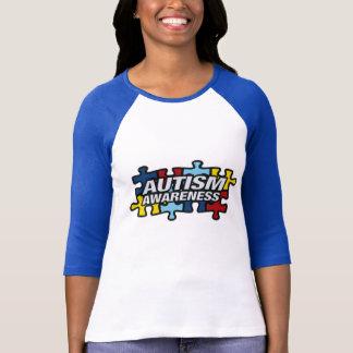 Autismmedvetenhetpussel lappar t-shirt