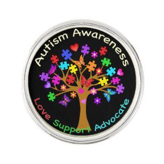 Autismmedvetenhetträd Kavajnål