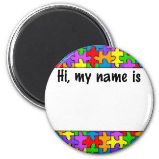 Autismnamn bricka magneter