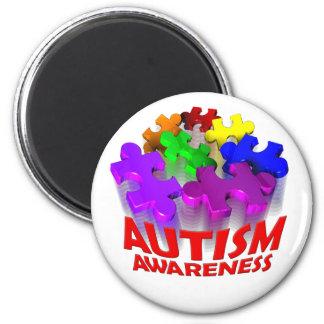 Autismpusselhopp! Magnet Rund 5.7 Cm