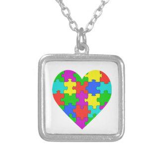 Autismpusselkärlek Personliga Halsband