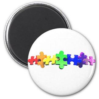 Autismpusselremsa Magnet Rund 5.7 Cm