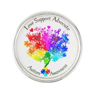 AutismSpectrumträd Kavajnål