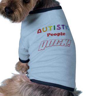 Autistic folk sten! hund tee shirt