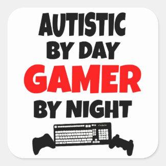 Autistic Gamer Fyrkantigt Klistermärke