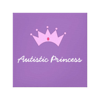 Autistic Princess Konst Canvastryck