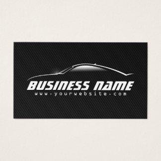 Auto fiber för kol för bilprofessionellsvart visitkort
