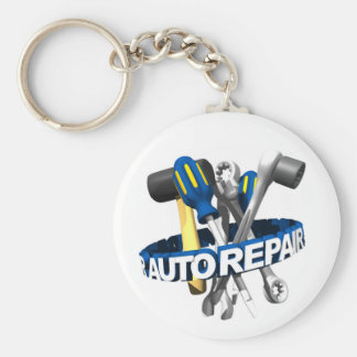 Auto mekaniker Keychain Rund Nyckelring