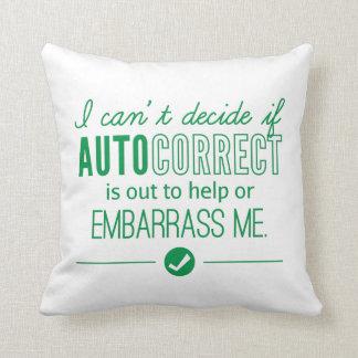 Autocorrect teknologi generar mig humorgrönt kudde