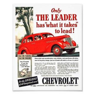 Automatiskt tryck för vintage - Chevy annonskonstv Fototryck