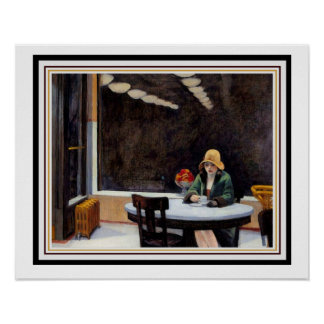 Automatrestaurang vid Edward Hopper 16 x 20 Poster