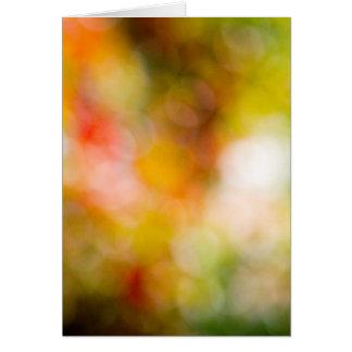 Autumn bokeh hälsningskort