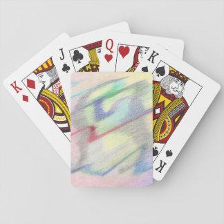 Av abstrakt leka korten för sjösida de Colorfully Kortlek