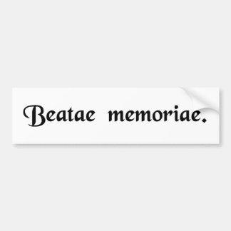 Av det välsignade minnet bildekal