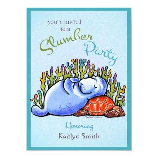 Slumber Party Manatee Turtle Off-Leash Art™