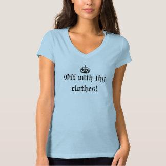 Av med din kläder! Ljus t-skjorta T Shirts