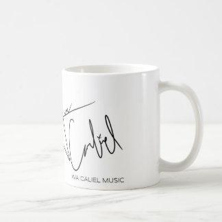 Ava Caliel musikmugg Vit Mugg