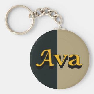 Ava Keychain Rund Nyckelring