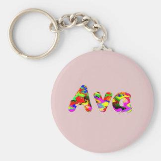 Ava liten runda Keychain Rund Nyckelring