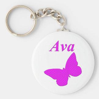 Ava Rund Nyckelring