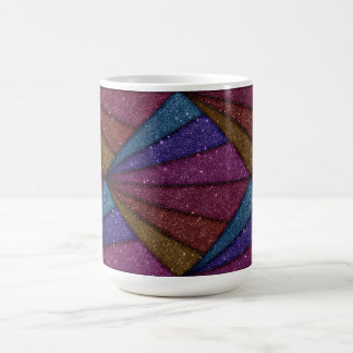 Avbilda av geometriskt glitter kaffemugg