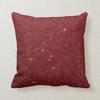 Avbilda av moderiktigt rött glitter kudde