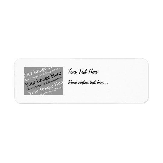 Avbilda och textanpassningsbarreturetiketter returadress etikett