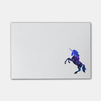 Avbildar den sparkly härliga unicornen för post-it block