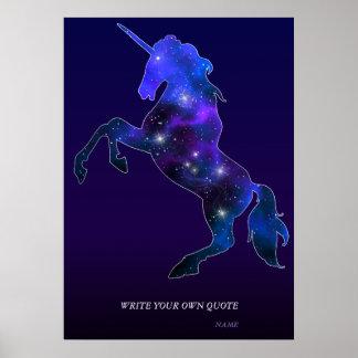Avbildar den sparkly rosa härliga unicornen för poster