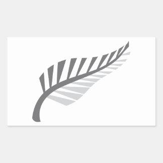 Avbildar enormt nyazeeländskt för silverFern Rektangulärt Klistermärke