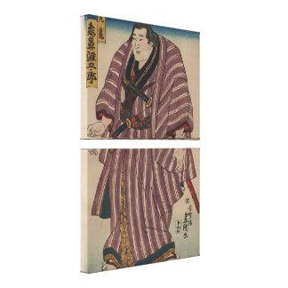 Avbildar japansk konst för vintage - Sumobrottare Canvastryck