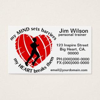 Avbrott affär för instruktör för sportbarriärer av visitkort
