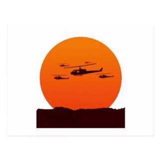 avbrytare på solnedgångstranden vykort