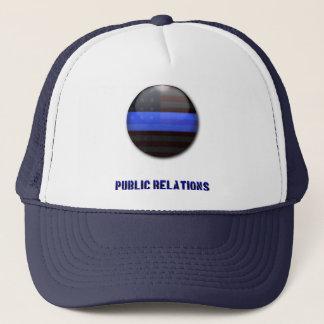 Avdelnings- symbol för tunn blålinjen - polisPR Truckerkeps