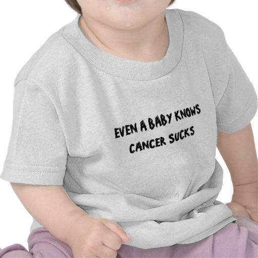 ÄVEN VET EN BABY ATT CANCER SUGER T-SHIRT