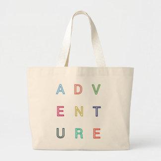Äventyr reser hänger lös modern typografi jumbo tygkasse