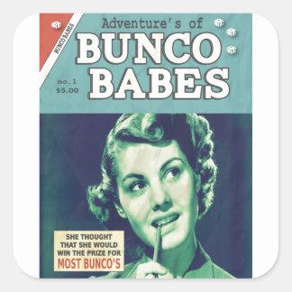 Äventyren av Bunco Babes Fyrkantigt Klistermärke