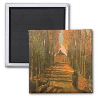 Aveny av Poplars i höst av Vincent Van Gogh Magnet