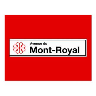 Aveny du Mont-Royal, den Montreal gatan Vykort