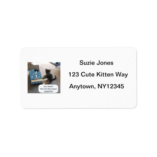 Avery för kattungejulöverrrakning etikett adressetikett