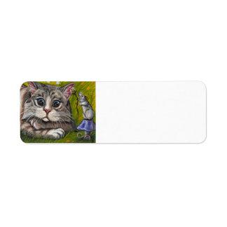 Avery för RAGDOLL-KATTmus etikett Returadress Etikett
