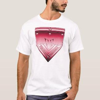 Avfällings- Enigmavapensköld för Crimson T-shirts