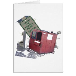 Avfallscontainer Hälsningskort