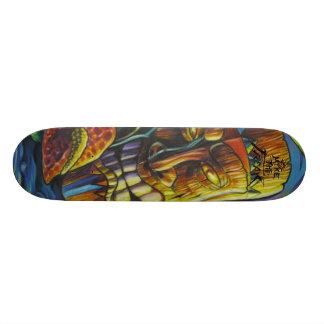 Avfyra av den Tiki guden Mini Skateboard Bräda 18,7 Cm