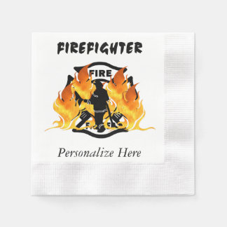 Avfyra avdelning flammar papper servetter