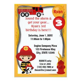 Avfyra den Dalmatian födelsedagen FF01A för 12,7 X 17,8 Cm Inbjudningskort