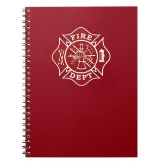 Avfyra den maltesiska arga anteckningsboken för anteckningsbok