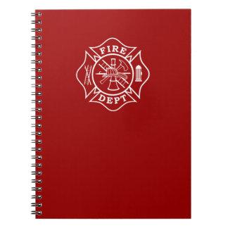 Avfyra den maltesiska arga anteckningsboken för anteckningsbok med spiral